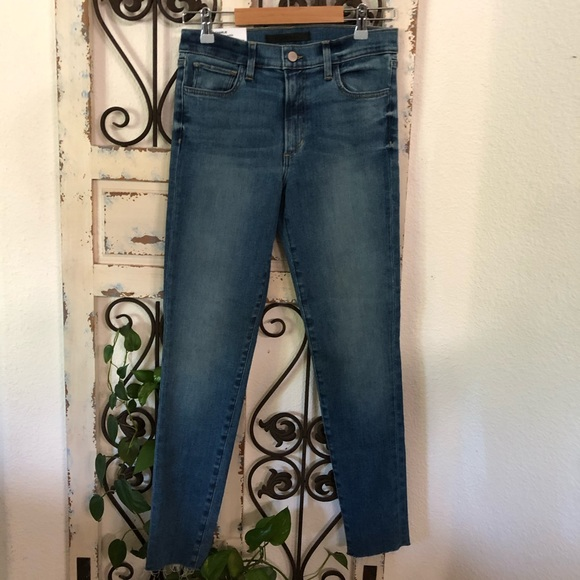 Joes jeans med wash high rise skinny ankle jeans